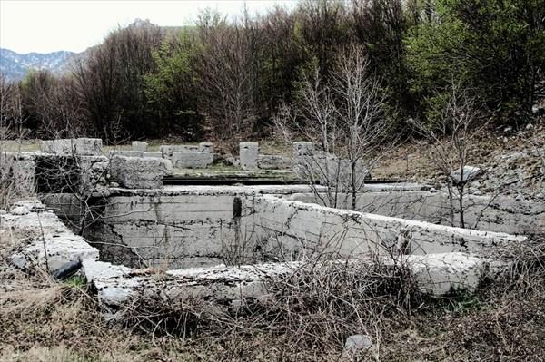 База Crkvice. Цисцерна для воды.
