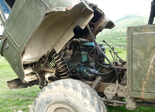 "ГАЗ-66 с двигателем от трактора ""Беларусь"""