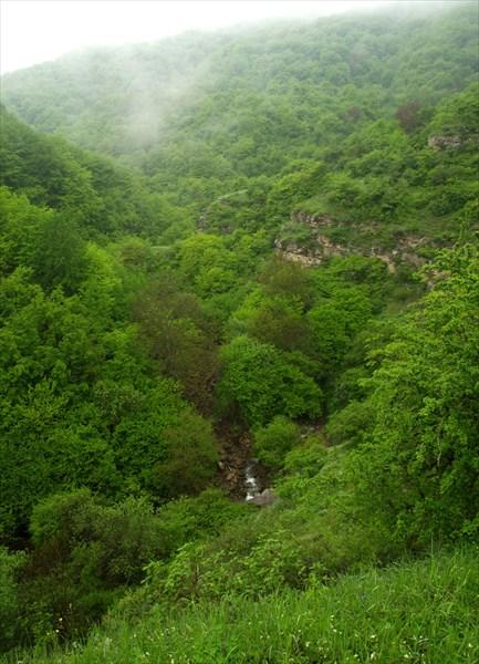 В ущелье бурлит река