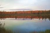 Заря на озере