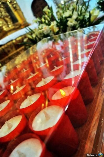 Вместо огня лампочка, храм в Оахака