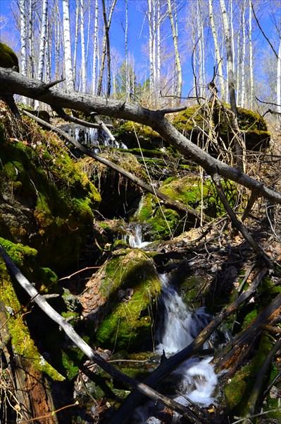 Горный ручей горы тюбетейка