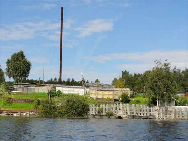 Дачи перед Путкинской ГЭС