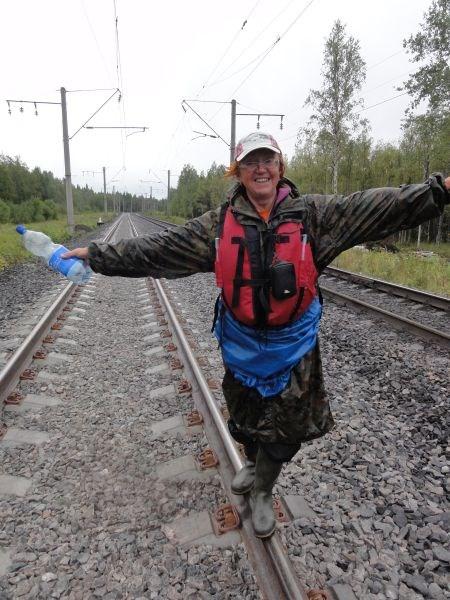 Железная дорога на Мурманск, уже двухколейка