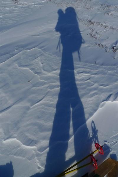 Тень лыжника)