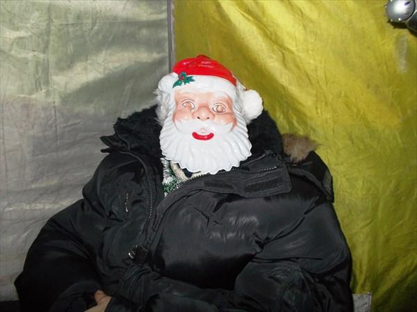 Дед Мороз тоже присутствовал на рыбалке