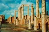 Руины древнего города Лептис-Магна