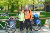 Мы на велопарковке у замка Арсен