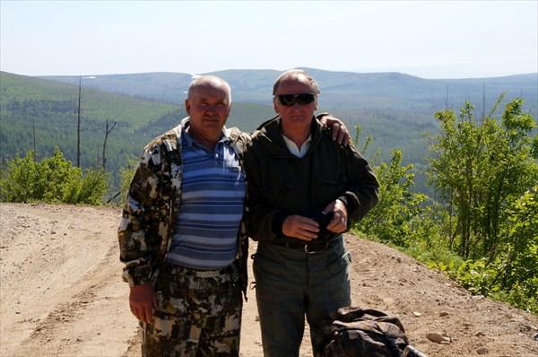 Члены похода Козлов Л.Д. и Труфанов Д.И.