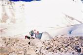 Лагерь на леднике в Среднем Каскелене