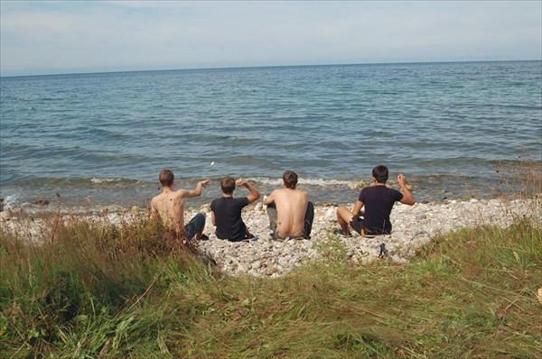 Интеллектуальное занятие на берегу Байкала
