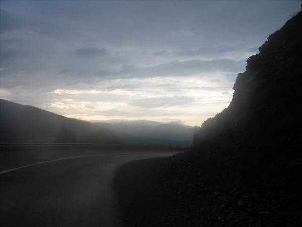 16 км мокрого асфальта, сброс 1 км..