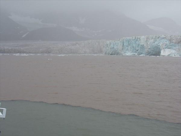 Граница пресной(ледниковой) и морской воды