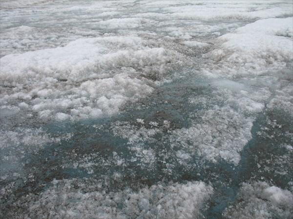 Голубая вода на леднике