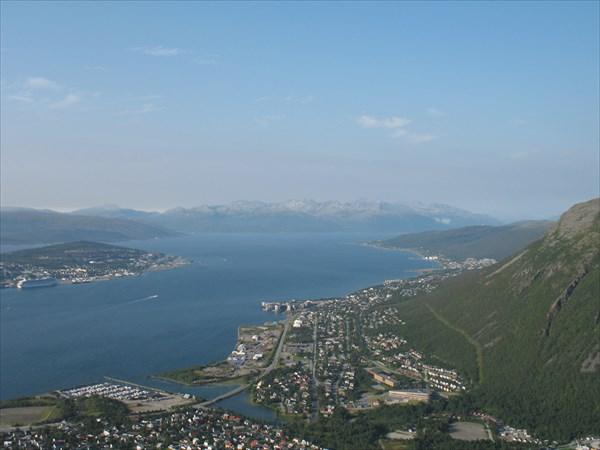 Норвегия. Вид со смотровой площадки на Тромсё
