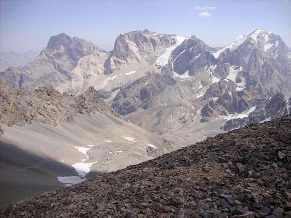 Вид с пер. Чимтарга в сторону Мутных озер