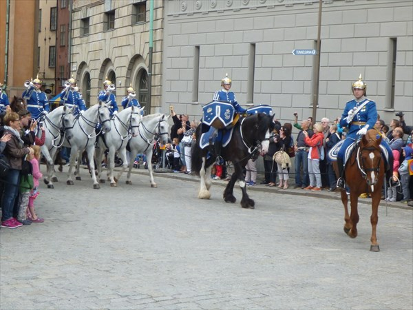 Смена караула королевского дворца.