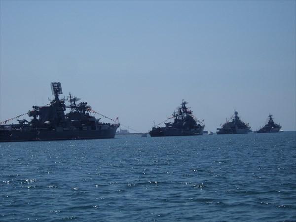 Корабли ВМФ РФ в Севастопольской бухте