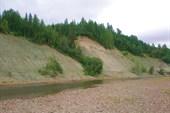 Песчанно-глинистые яры в районе большого мега