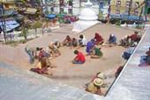 реставрационные работы на крыше ступы Катесимбху