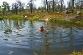 Озеро с набережной