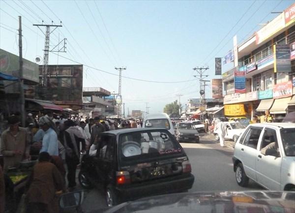 На одной из улиц Абботабада