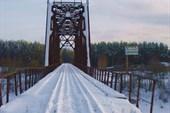 Река Межа в Жарковском (вид на старый мост)
