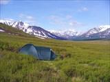 Утро после ночевки на плато Ештыкол