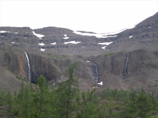 Водопады в долине Геологической