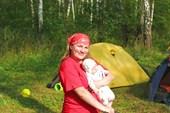Аня с дочкой
