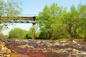 Река Гусь. Май, 2008. Бетонный мост в Гусе-Железном.