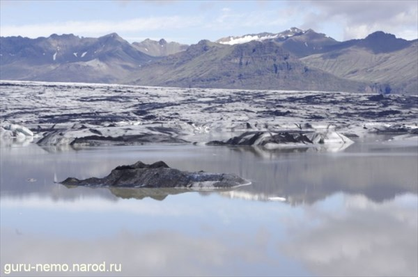 Озеро у ледника Skei?ararjokull