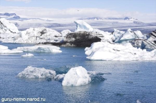 Айсберги в лагуне Jokulsarlon
