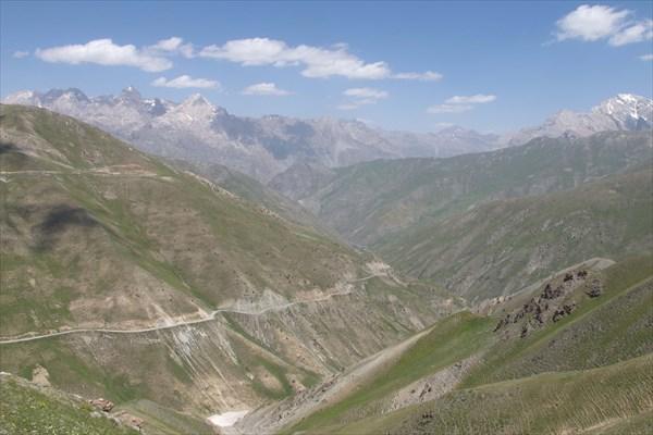 Дорога на перевал Анзоб