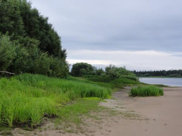 Песчаная коса на острове Сагтыгтумп.