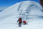 За считанные минуты до Западной вершины Эльбруса