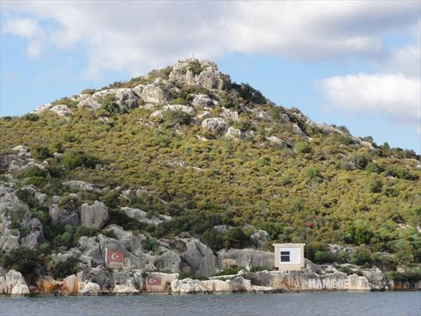 Следы стоянки турецкого корабля