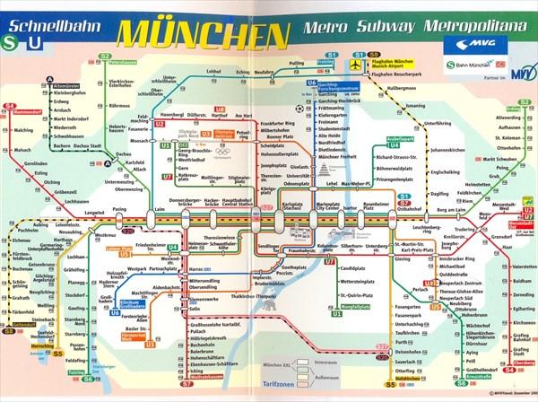 015-Схема мюнхенского метро