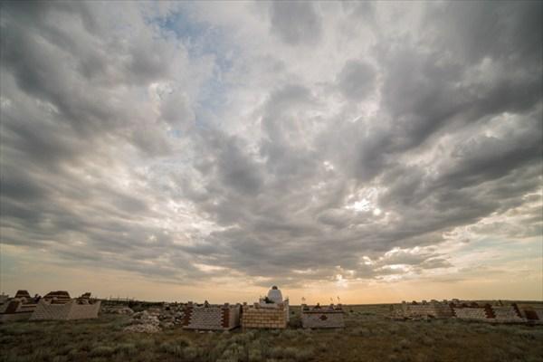 Мусульманское кладбище в степи