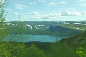 Сейдозеро  с высоты долины р. Куклухтнюн