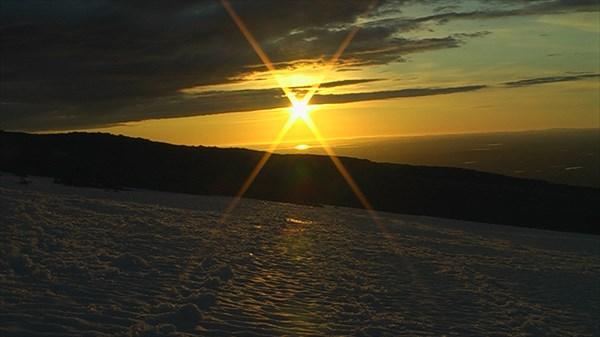 Закат на северо-западе от Сейдзера