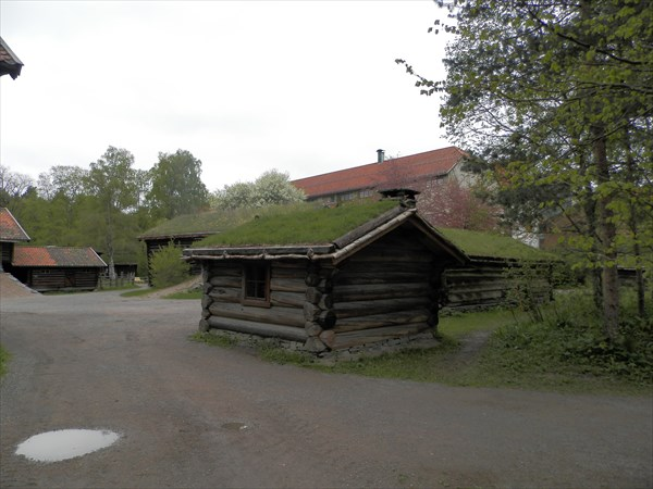 Домики с травяной крышей