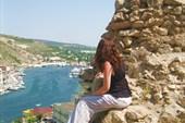 Вид на балаклавскую бухту с развалин генуэзской крепости