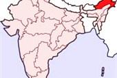 Красным цветом на карте Индии выделен Аруначал Прадеш