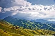 Вид на горы с перевала Чильбель