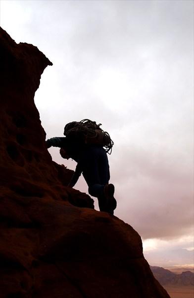 Песчаник отлично держит ногу