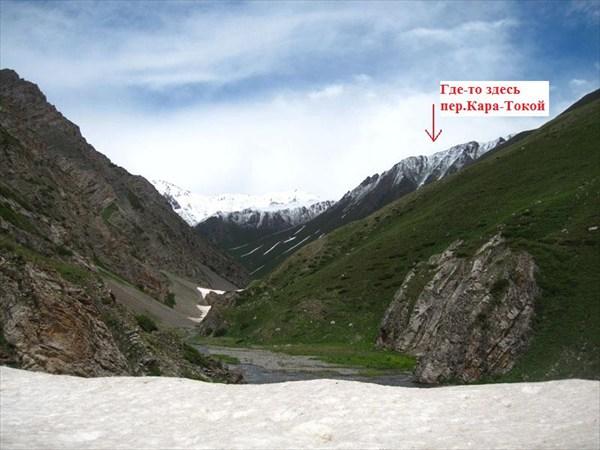 Долина реки перед подъемом на пер.Кара-Токой