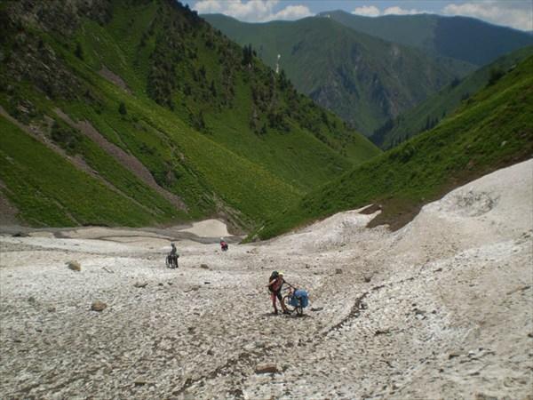 Суск вдоль р.Сары-Челек с Чаткальского хребта