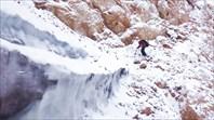 Ключевой участок - переход с полки на ледник выше бергшрунда