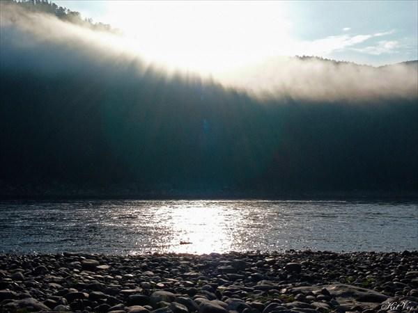 Солнце сквозь туман